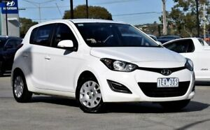 2015 Hyundai i20 PB MY15 Active White 4 Speed Automatic Hatchback Ferntree Gully Knox Area Preview