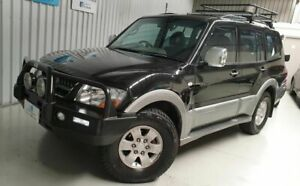 2003 Mitsubishi Pajero NP Exceed Black 5 Speed Sports Automatic Wagon
