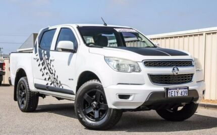 2012 Holden Colorado RG MY13 LX Crew Cab White 5 Speed Manual Utility Wangara Wanneroo Area Preview