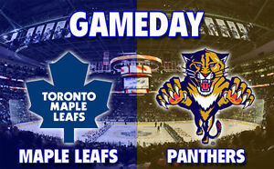 Toronto Maple Leafs vs Florida Panthers!....2 Tickets!