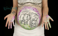 Unique Maternity Belly Painting with Photography - Painted Skinz