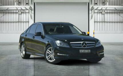 2012 Mercedes-Benz C200 W204 MY11 BE Black 7 Speed Automatic G-Tronic Sedan Granville Parramatta Area Preview