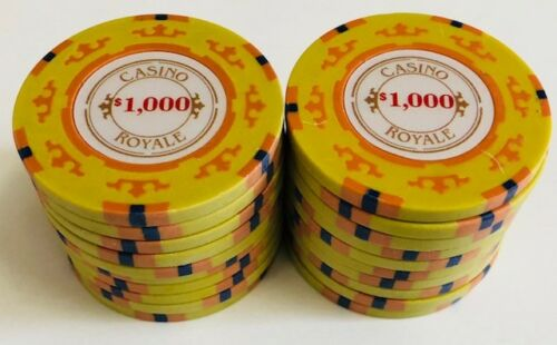 (25) $1000 CASINO ROYALE POKER CHIPS