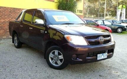 2006 Toyota Hilux GGN15R MY05 SR5 Burgundy 5 Speed Automatic 4D UTILITY