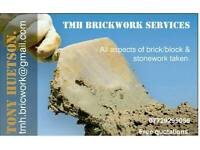 TMH BRICKWORK SERCICES. All aspects of brickwork and stonework contracts.