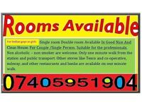 Room to rent for professionals, students and couples