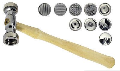 Texturing Hammer w/ 9 INTERCHANGEABLE Heads Design Texture Metal Work Tool Set