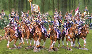 THE COLLECTORS SHOWCASE NAPOLEONIC FRENCH POLISH LANCERS SET MIB