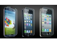 APPLE IPHONE/SAMSUNG GALAXY/HTC TEMPERED GLASS SCREEN PROTECTORS