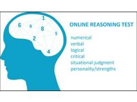 Help with online reasoning tests: numerical, verbal, logical, critical, situational judgment test...