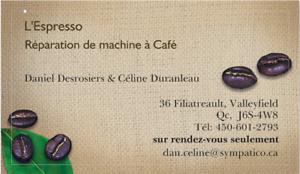 Réparation de machine à café Espresso