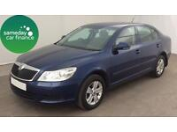 £148.83 PER MONTH BLUE 2012 SKODA OCTAVIA 1.6 CR SE 5 DOOR DIESEL MANUAL