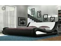Enzo Italian 5ft king size modern leather bed cheap brand new(unpacked)