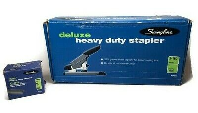 Swingline Deluxe Heavy Duty Stapler 2-106 Model 39005 Staples Mint Condition
