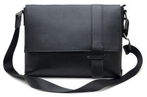 2012-NEW-Mens-Top-Nappa-Leather-Black-Messenger-Shoulder-Crossbody-Document-Bags