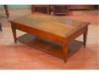 Beautiful Brigitte Forestier cherrywood coffee table in excellent condition