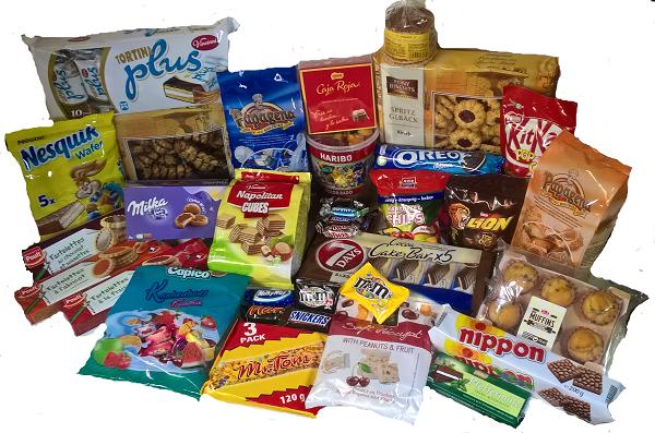 5 Kg Mega Süßwaren/Kekse/Gebäck/Schokolade/Fruchtgummi und vieles mehr Mix Paket