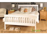 Atlanta Wooden Bed in 3 Colours with Mattress Options c