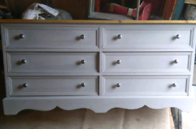Small Solid Pine Chest of Drawers, Refurbished, Can Deliver