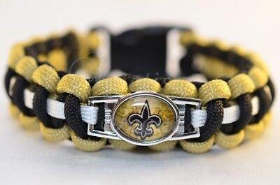 Paracord Armband New Orleans Saints NFL Football Bracelet Flechtleine Fallschirm