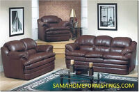 BRAND NEW LEATHER SOFA SET  LOWEST PRICE IN STOCK