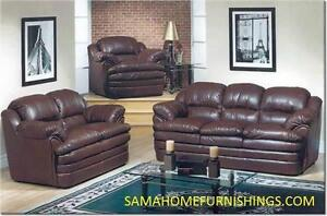 BRAND NEW LEATHER SOFA SALE IN STOCK CHOICE OF COLOURS