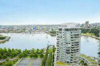 Waterfront, Best in Yaletown, Fully Furnished, Avail August 1st