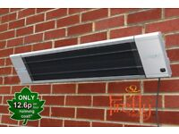 NEW 1.8kW Electric Patio Heater 'Black Heat' with Remote Control by Firefly
