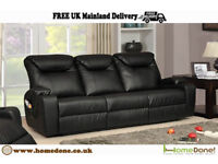 CINEMA BONDED LEATHER ELECTRIC RECLINER nJz