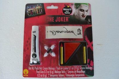 The Joker Suicide Squad Movie Makeup Tattoo Kit DC Comics - Halloween Movie Tattoo