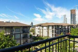FURNISHED 1 bed + den Condo