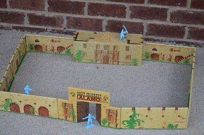 Marx Painted Tin Alamo Chapel Fort Set 54Mm 1 32 Toy Soldier