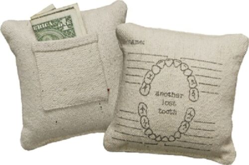 """Primitives by Kathy """" ANOTHER LOST TOOTH """" Pillow 5"""" Sq. Tooth Fairy Pillow"""
