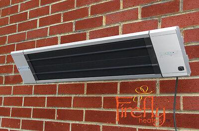 Chauffage Électrique Extérieur Chaleur Noire Télécommande Fixation Murale Patio