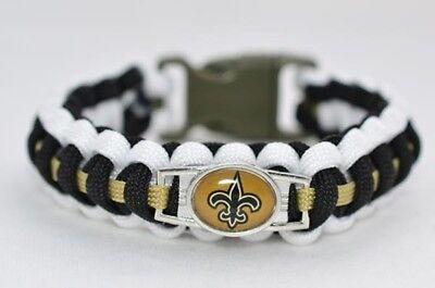 Paracord Armband New Orleans Saints NFL Parachute Cord Bracelet Flechtleine Fan