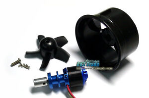 64mm Duct Fan 4500KV RC Brushless Outrunner Motor for EDF RC Jet Plane Aircraft