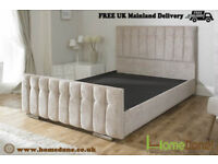 DIANA FABRIC UPHOLSTED STORAGE BED viM