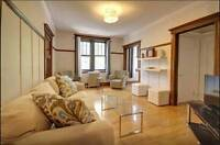 Fully Furnished Luxury Suite- 1 bedroom+den on Laurier Ouest