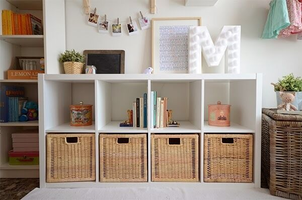 4 x ikea branas rattan storage baskets 32x34x32 cm fits kallax expedit bonde units in