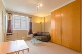 A bright modern studio apartment on the 5th floor (with lift and porter) close to the Kings Road.