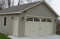 Custom build garages, design and build service