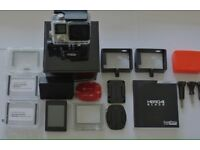 GoPro 4 black with backpak lcd