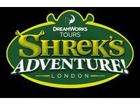 2 x Tickets for Shrek's Adventure London Only £25 LESS THAN HALF PRICE - NORMALLY £55 !!!