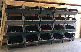 Heavy duty storage troughs.