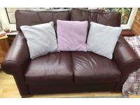 Designer leather sofa set (can deliver)