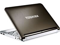 TOSHIBA NETBOOK 11 INCHES , INTEL ATOM DUAL CORE , 2 GB RAM , 250 GB HDD , WEBCAM , WIFI , CLEAN