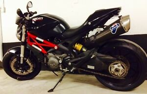 2012 Ducati 796 ABS Black with Red Trellis- Excellent condition