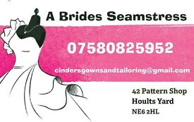 A Brides Seamstress, Previously a Seamstress for boutiques. Now my own Studio at Hoults Yard