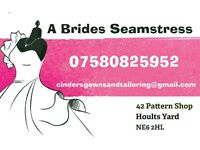 A Brides Seamstress, Local for Alterations & Design.