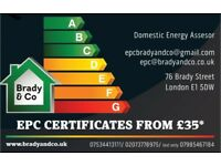 ENERGY PERFORMANCE CERTIFICATE FROM £35** CALL NOW FOR EPC